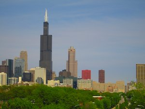 willis tower skyline chicago