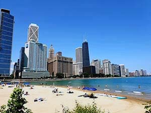 leuke stranden in chicago
